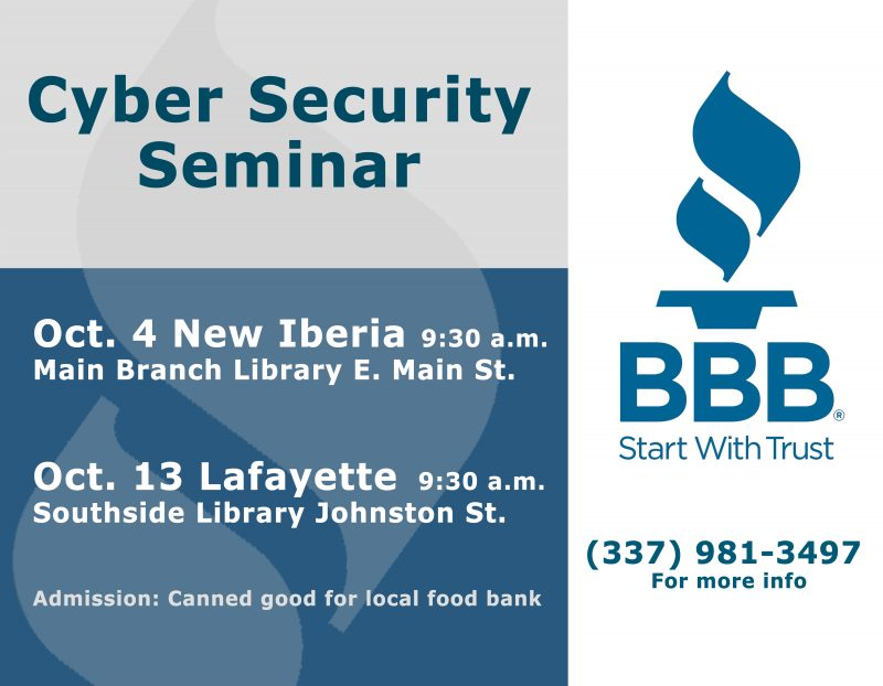 BBB Cyber Security Seminar