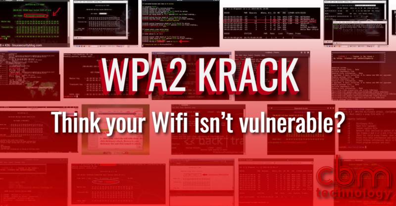 WPA2 Krack - Wifi Vulnerability